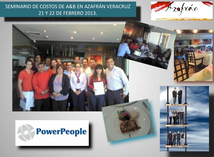 Powerpeople y Restaurantes Azafrán - seminarios